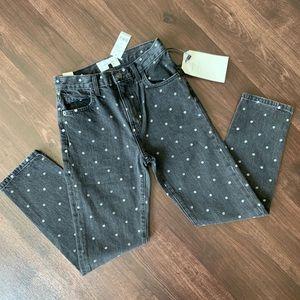 Current/Elliot Polka Dot Black Jeans